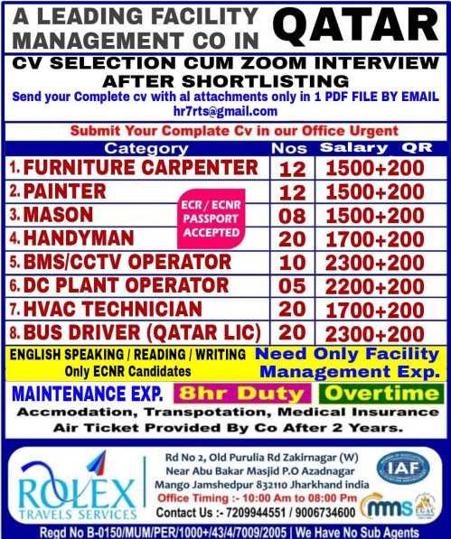 Job for Facility Management Co. Qatar