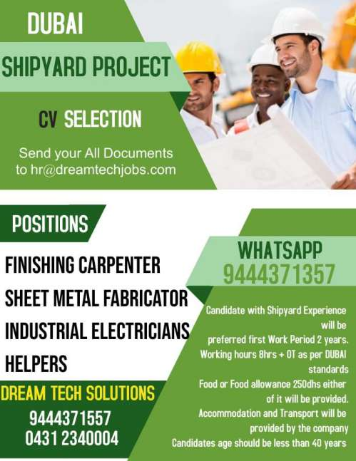Jobs for Dubai Shipyard Project