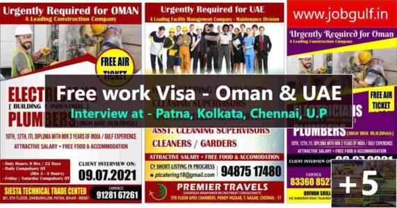 Overseas job interviews in India – UP, Bihar, Bengal, Chennai