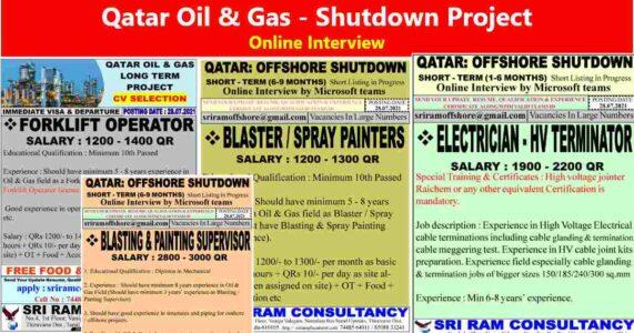 Job vacancies for Qatar offshore shutdown project
