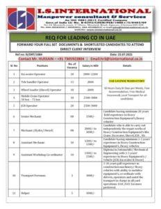 Gulf jobs | Job vacancies for UAE – 100+ seats