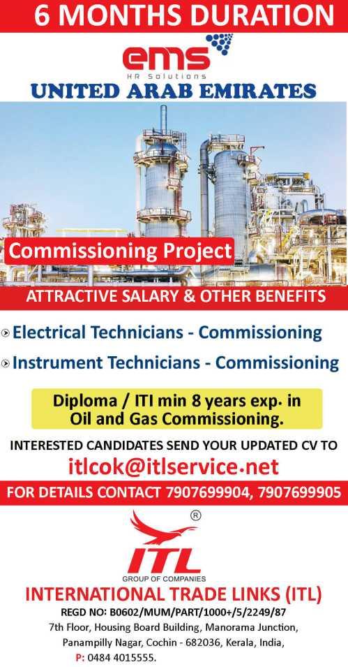 Electrical / Instrument technician - UAE