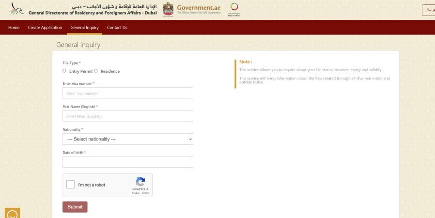 uae visa status check