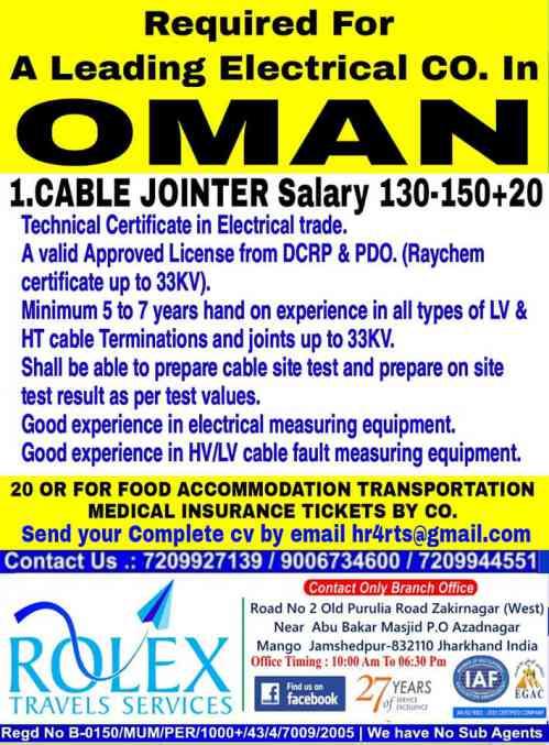 Gulfwalkin   Rolex travels - Job vacancies for Oman & Qatar