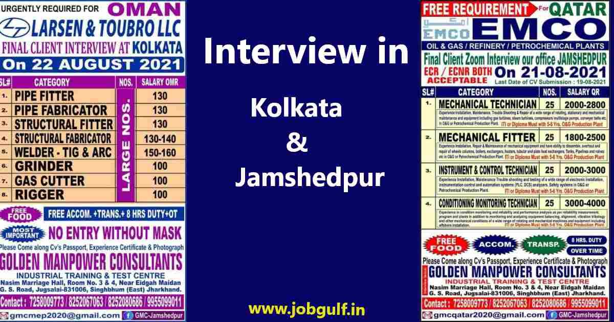 Golden Manpower – Jamshedpur / Kolkata