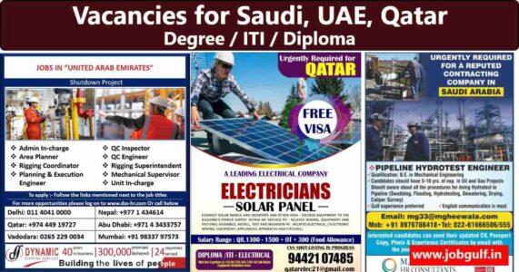 Gulf Job Paper – Vacancies for UAE, Saudi, Qatar