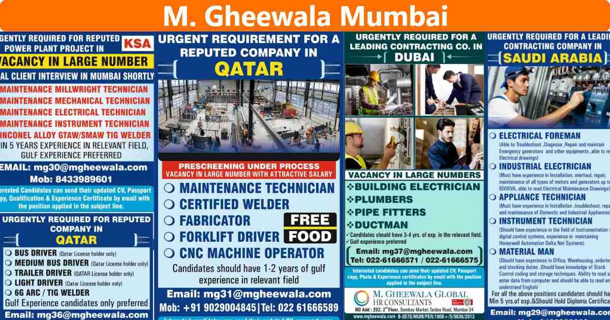 Gulfwalkin – Job vacancies for Dubai, Saudi, Qatar