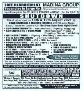 Madina Group Qatar – A large number of vacancies