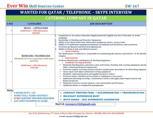 Work abroad from India | Gulf job vacancies