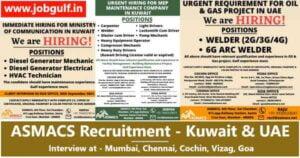 ASMACS Recruitment