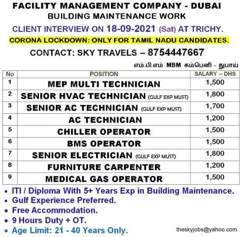 Facility management company- Dubai