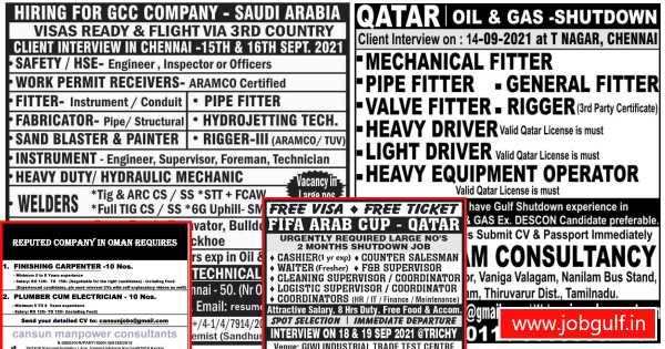 Gulf Jobs – Job vacancies for Oman, Qatar & Saudi Arabia