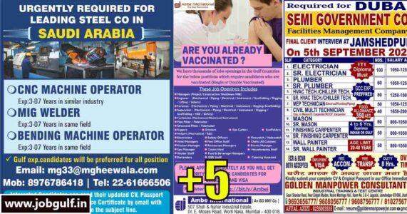 Gulfwalkin – Job vacancies for UAE, Qatar & Saudi Arabia