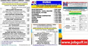 Job Vacancies for Dubai & Sharjah