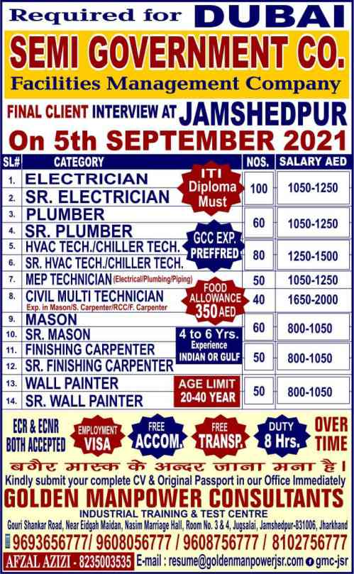 Job Vacancies for Dubai