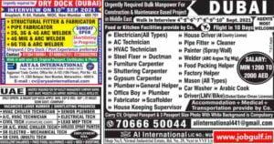 Jobs in Dubai for Indian graduates freshers