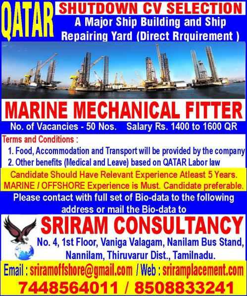 Mechanical fitter - Qatar