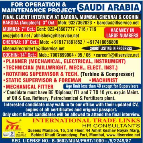 Operation & Maintenance project Saudi Arabia