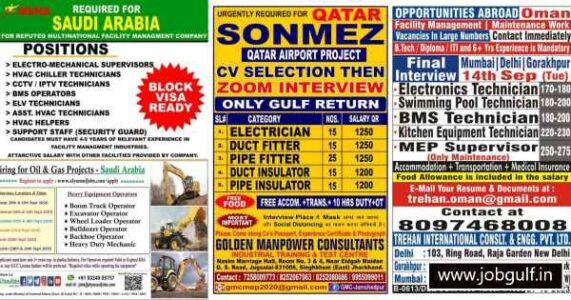 Overseas Gulf jobs – Requirements for Saudi, Qatar, Oman