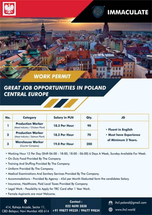 Poland work permit | Job opportunity in Poland