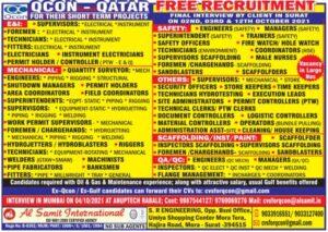 Qatar Free Recruitment Qcon Qatar - Large vacancies