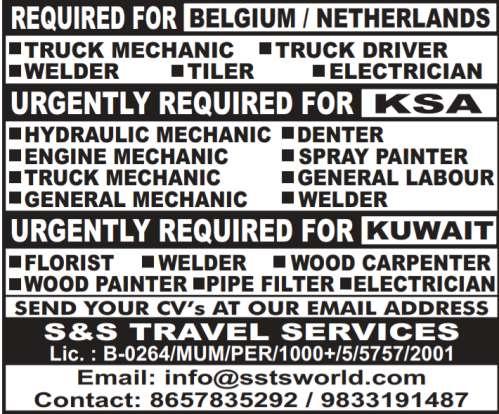 Recruitment for Gulf & Europe