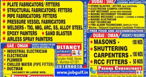 Dubai Job Vacancy | Interview in Mumbai