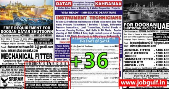 Job Gulf PDF Papers –  Download 20 Sep job papers