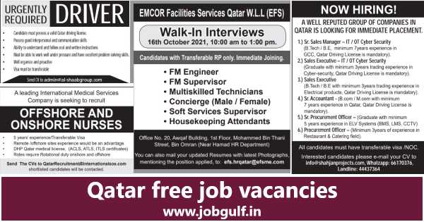 Qatar free job vacancies  Qatar living jobs