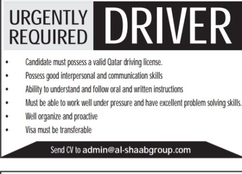 Urgently required Driver